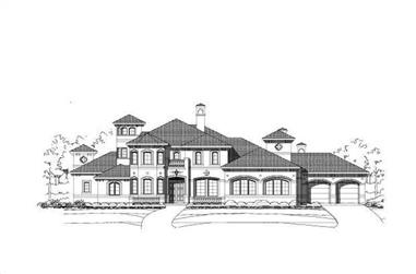 4-Bedroom, 5318 Sq Ft Luxury House Plan - 156-1558 - Front Exterior