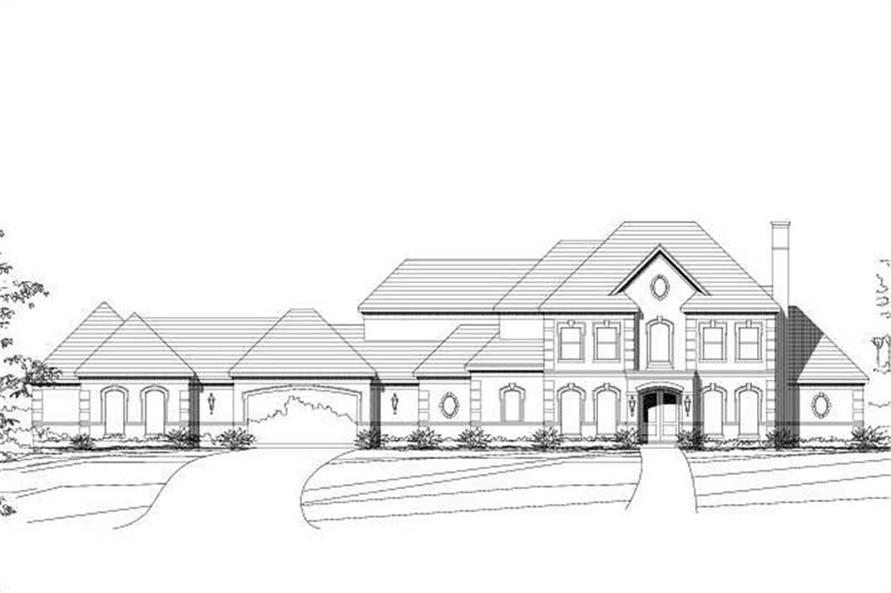 4-Bedroom, 4714 Sq Ft Luxury House Plan - 156-1559 - Front Exterior
