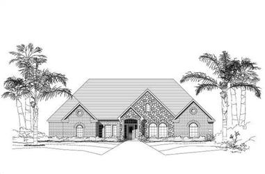 3-Bedroom, 4130 Sq Ft Luxury House Plan - 156-1560 - Front Exterior