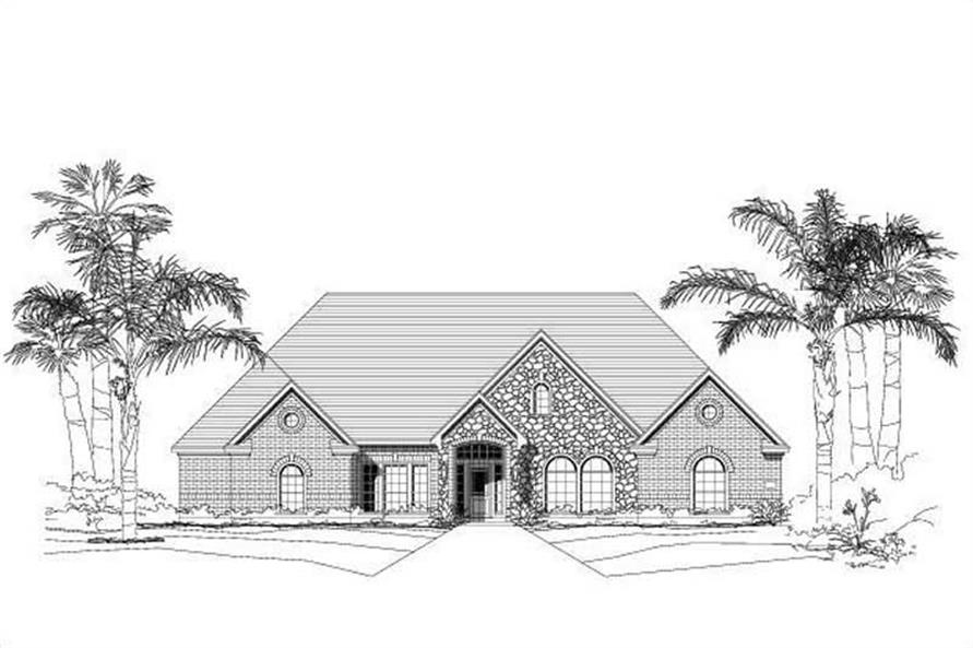Luxury home (ThePlanCollection: Plan #156-1560)