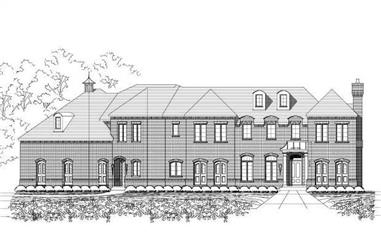 4-Bedroom, 6414 Sq Ft Luxury House Plan - 156-1561 - Front Exterior