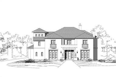 3-Bedroom, 6303 Sq Ft Luxury House Plan - 156-1562 - Front Exterior