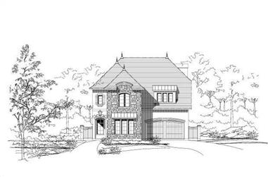 4-Bedroom, 3512 Sq Ft Country House Plan - 156-1563 - Front Exterior