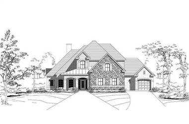 4-Bedroom, 3996 Sq Ft Country House Plan - 156-1564 - Front Exterior