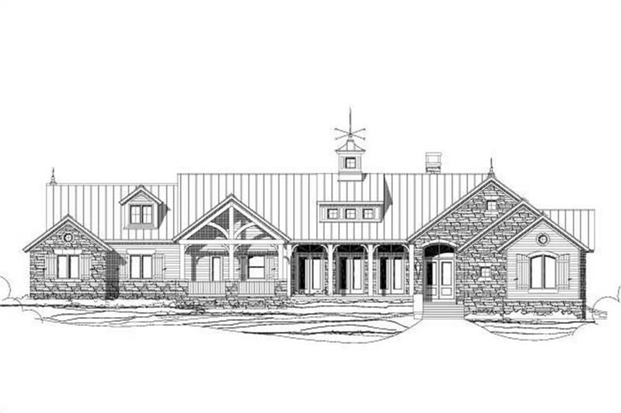 3-Bedroom, 2906 Sq Ft Country Home Plan - 156-1565 - Main Exterior