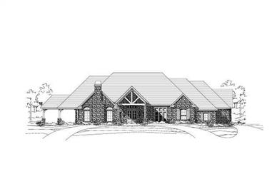 3-Bedroom, 4490 Sq Ft Country Home Plan - 156-1566 - Main Exterior