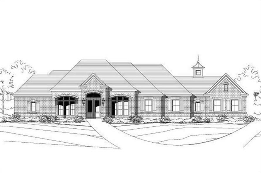 3-Bedroom, 3013 Sq Ft Ranch Home Plan - 156-1567 - Main Exterior