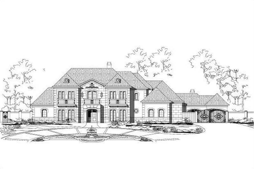5-Bedroom, 7258 Sq Ft Luxury Home Plan - 156-1570 - Main Exterior