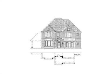 4-Bedroom, 3674 Sq Ft Luxury Home Plan - 156-1571 - Main Exterior