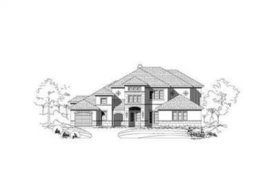 4-Bedroom, 4366 Sq Ft European House Plan - 156-1572 - Front Exterior