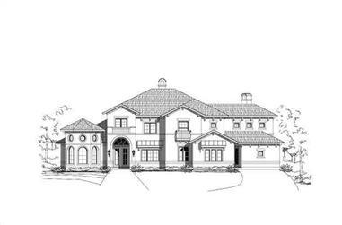 5-Bedroom, 4994 Sq Ft Mediterranean Home Plan - 156-1573 - Main Exterior