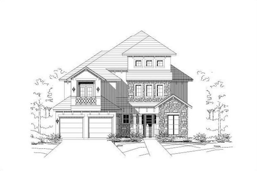 3-Bedroom, 4170 Sq Ft European Home Plan - 156-1574 - Main Exterior