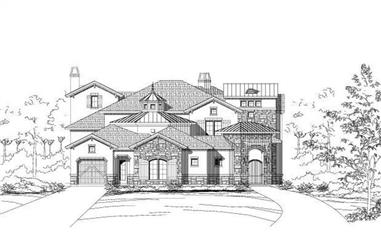4-Bedroom, 4960 Sq Ft Country House Plan - 156-1575 - Front Exterior