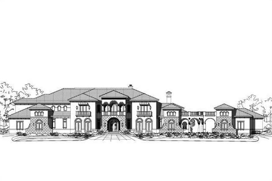 6-Bedroom, 11226 Sq Ft Mediterranean Home Plan - 156-1576 - Main Exterior