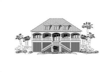 4-Bedroom, 3952 Sq Ft Coastal Home Plan - 156-1577 - Main Exterior