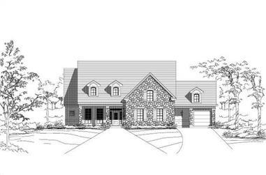 4-Bedroom, 3996 Sq Ft Luxury Home Plan - 156-1579 - Main Exterior