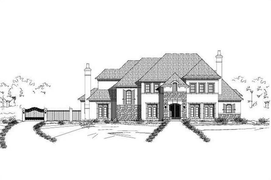 4-Bedroom, 6754 Sq Ft Luxury Home Plan - 156-1580 - Main Exterior