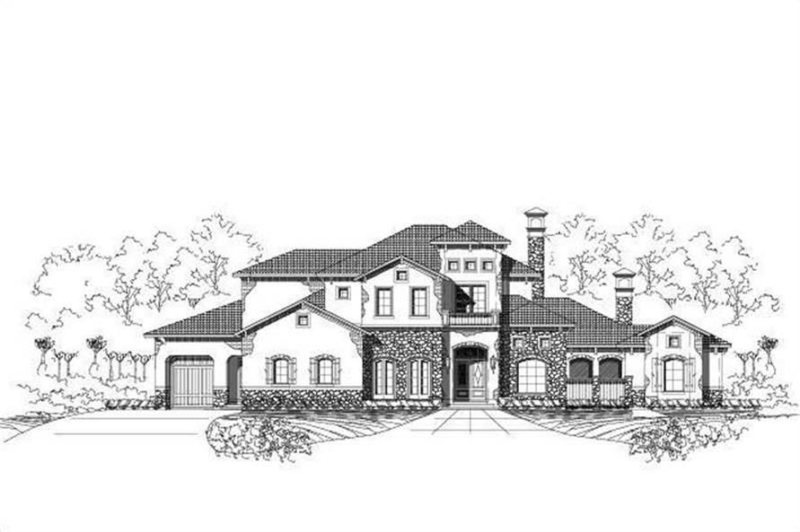 4-Bedroom, 5413 Sq Ft European Home Plan - 156-1581 - Main Exterior