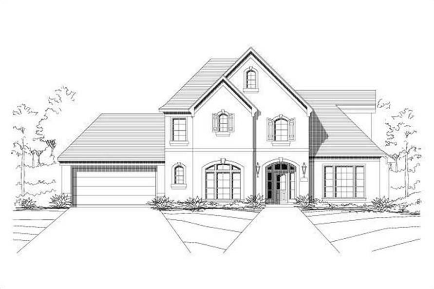 5-Bedroom, 2447 Sq Ft Country House Plan - 156-1583 - Front Exterior