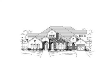 4-Bedroom, 4943 Sq Ft Southern Home Plan - 156-1586 - Main Exterior