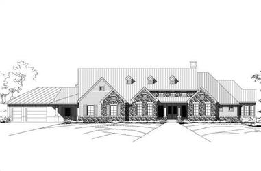 5-Bedroom, 6114 Sq Ft Country Home Plan - 156-1588 - Main Exterior