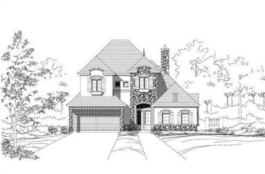 3-Bedroom, 3436 Sq Ft Country Home Plan - 156-1591 - Main Exterior