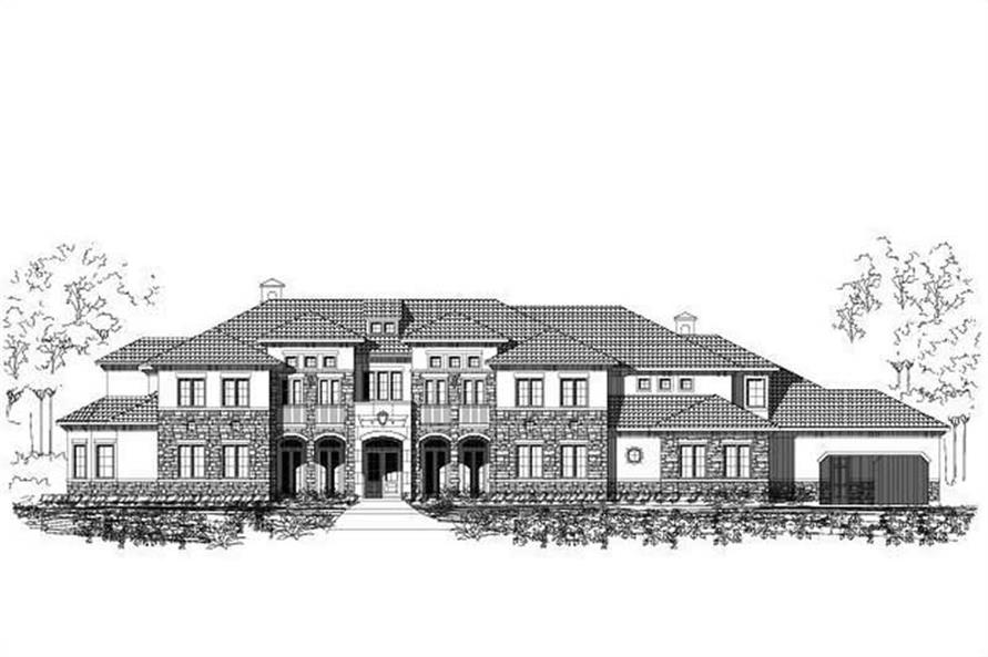 8-Bedroom, 11104 Sq Ft Luxury House Plan - 156-1596 - Front Exterior