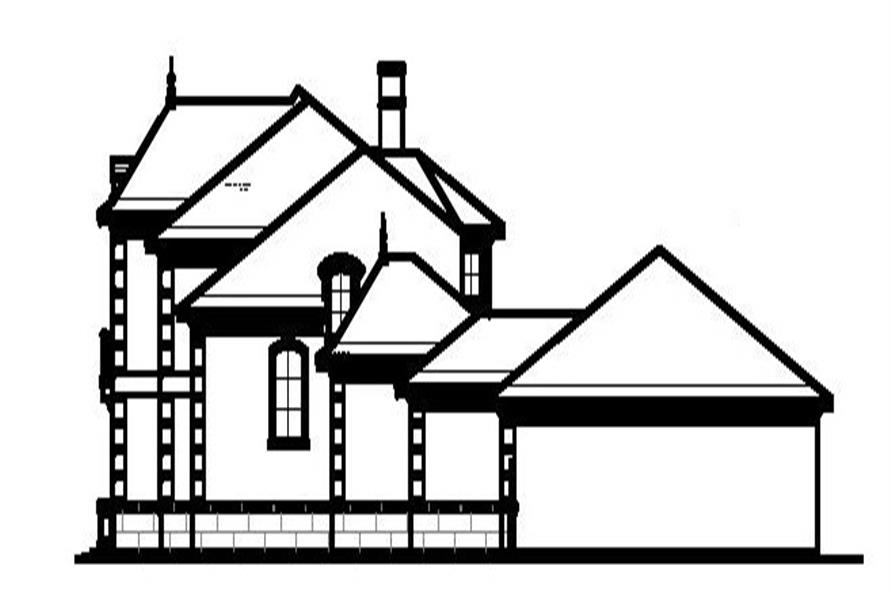 Home Plan Right Elevation of this 5-Bedroom,6331 Sq Ft Plan -156-1598