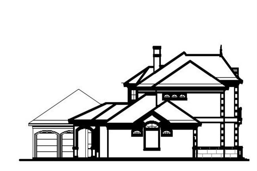 Home Plan Left Elevation of this 5-Bedroom,6331 Sq Ft Plan -156-1598
