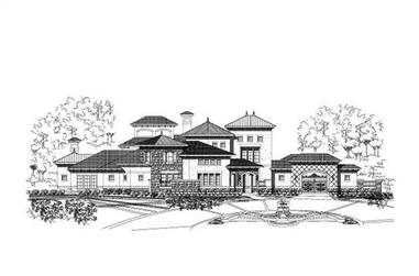 5-Bedroom, 8590 Sq Ft Luxury House Plan - 156-1601 - Front Exterior