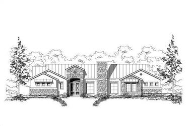 4-Bedroom, 3918 Sq Ft Tuscan House Plan - 156-1602 - Front Exterior
