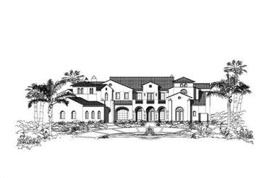 5-Bedroom, 10089 Sq Ft Luxury House Plan - 156-1603 - Front Exterior