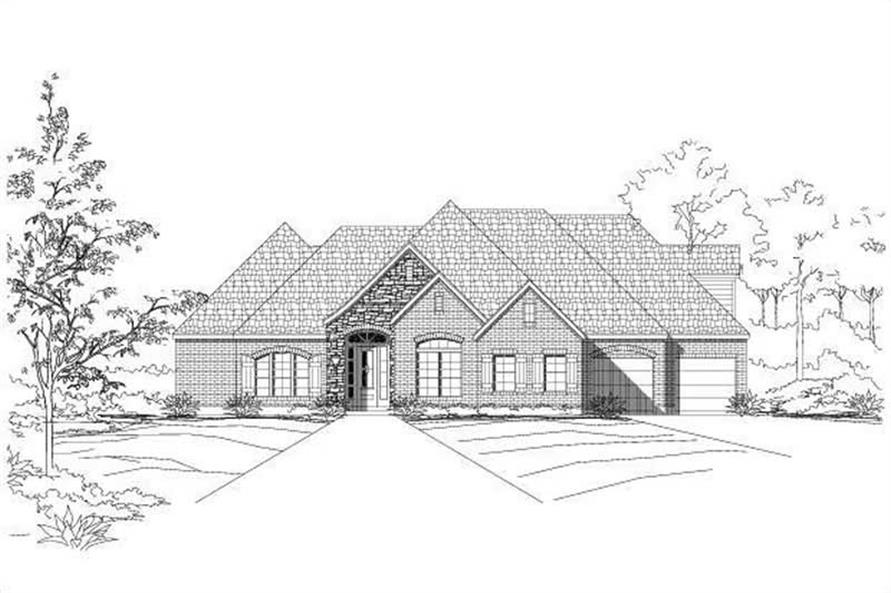 4-Bedroom, 2653 Sq Ft Ranch House Plan - 156-1604 - Front Exterior