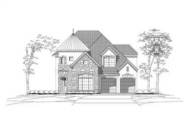 4-Bedroom, 3560 Sq Ft Tuscan Home Plan - 156-1606 - Main Exterior
