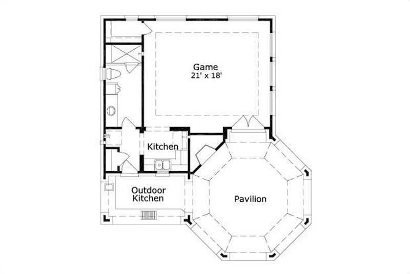 Garage W Apartments House Plans Home Design Tiki Cabana