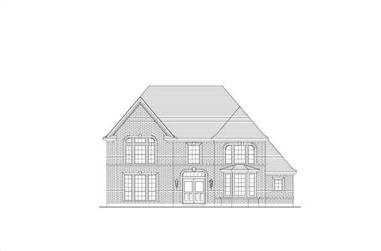 5-Bedroom, 3992 Sq Ft Luxury House Plan - 156-1609 - Front Exterior