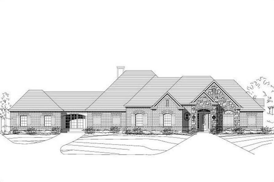 4-Bedroom, 3518 Sq Ft Country Home Plan - 156-1610 - Main Exterior
