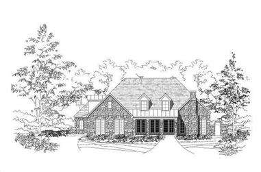3-Bedroom, 3633 Sq Ft Country Home Plan - 156-1611 - Main Exterior