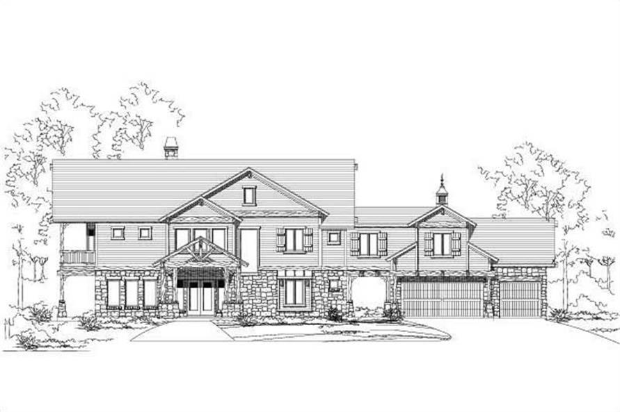 4-Bedroom, 3608 Sq Ft Country Home Plan - 156-1612 - Main Exterior