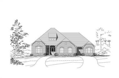 4-Bedroom, 3427 Sq Ft Luxury Home Plan - 156-1614 - Main Exterior