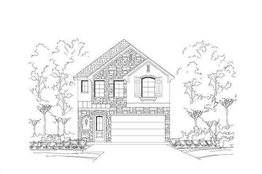 3-Bedroom, 1897 Sq Ft Multi-Level House Plan - 156-1615 - Front Exterior