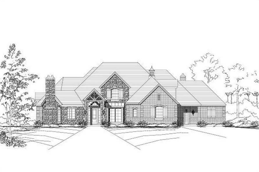 4-Bedroom, 4476 Sq Ft Country Home Plan - 156-1617 - Main Exterior