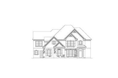 5-Bedroom, 3718 Sq Ft Country Home Plan - 156-1618 - Main Exterior
