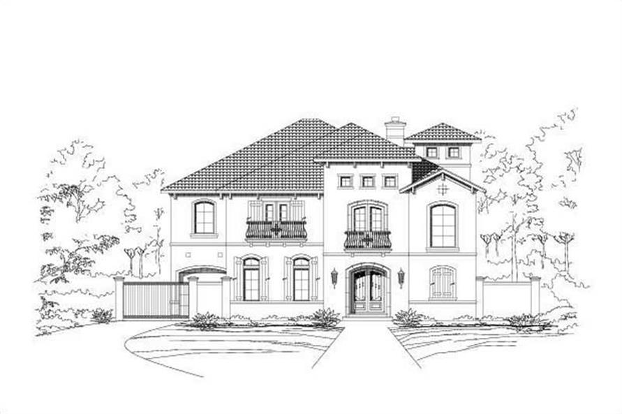 5-Bedroom, 7209 Sq Ft Mediterranean House Plan - 156-1620 - Front Exterior