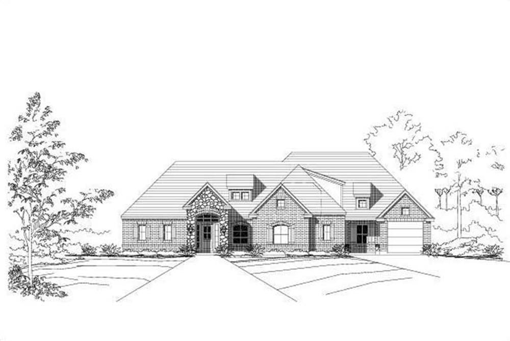 Ranch home (ThePlanCollection: Plan #156-1622)