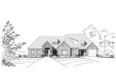 4-Bedroom, 2762 Sq Ft Ranch Home Plan - 156-1622 - Main Exterior