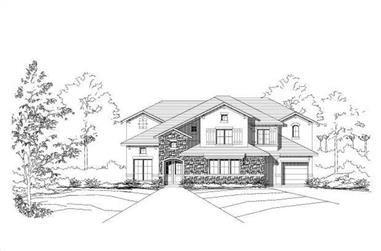 4-Bedroom, 4114 Sq Ft Tuscan Home Plan - 156-1623 - Main Exterior
