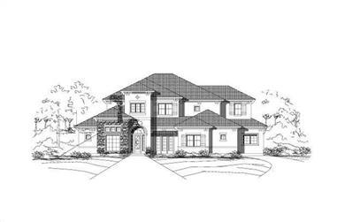 5-Bedroom, 5471 Sq Ft Luxury Home Plan - 156-1624 - Main Exterior