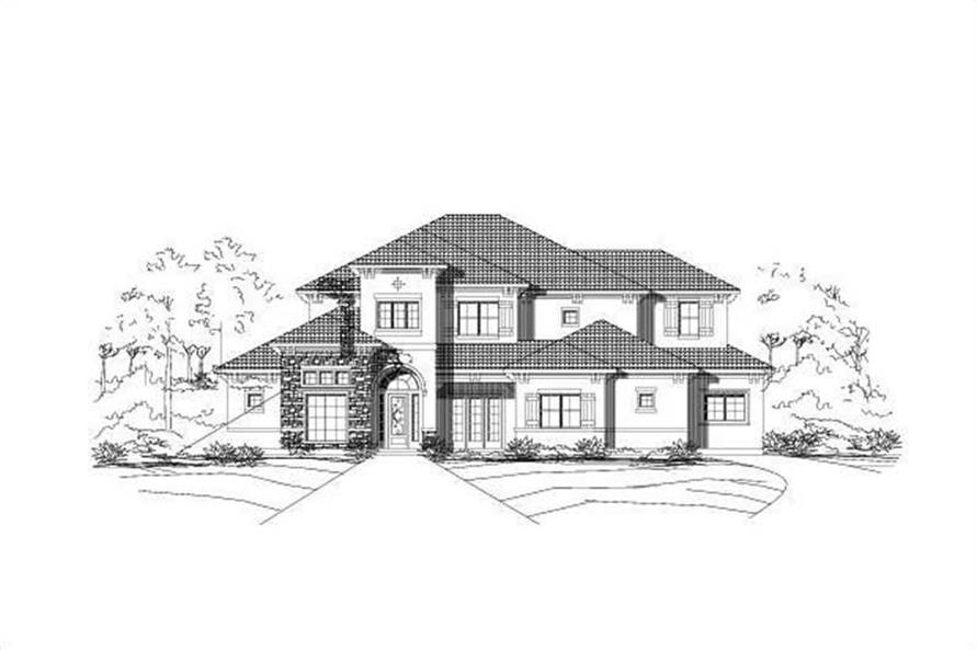 5-Bedroom, 5471 Sq Ft Luxury Home Plan - 156-1624 - Main Exterior