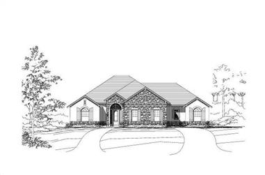 4-Bedroom, 3285 Sq Ft Country Home Plan - 156-1625 - Main Exterior